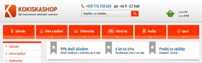 "Kokiska s.r.o. – internetový Eshop ""Dodávka kompletní VT"""